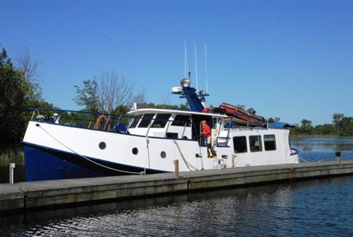 Custom built steel trawler converted commercial fishing for Used commercial fishing boats for sale