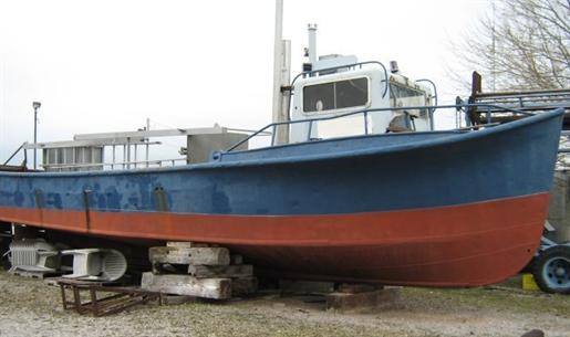 Trap net boat canadian built trap net boat 1948 used boat for How much does a fishing boat cost