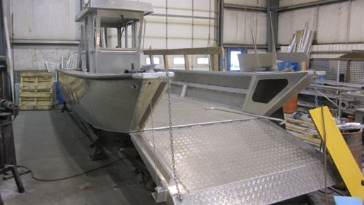 Custom built 26 39 x 9 39 aluminum landing craft 2015 new boat for Aluminum craft boats for sale