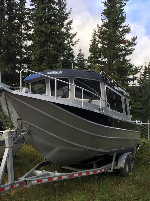 Thunder jet pilot 2015 used boat for sale in prince george for Jet fishing boats for sale
