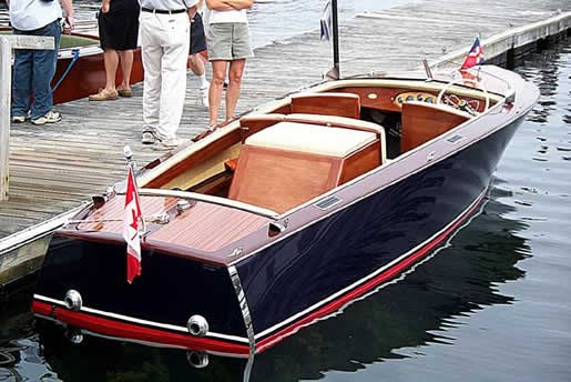 2012 Bruce 22 Classic Electric Launch Antique and Classics Boat Review ...