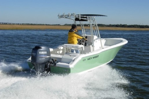 key west 203fs centre console running