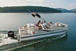 suntracker fishing barge 21 running