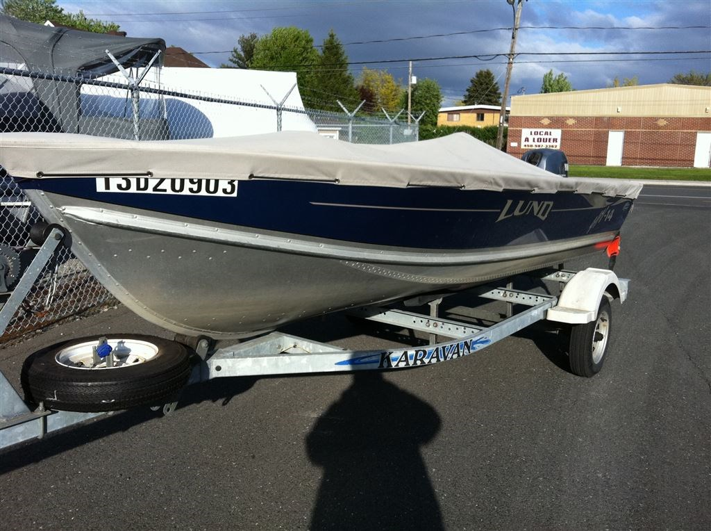 Lund boat co ssv 14 2002 used boat for sale in sorel tracy for Used lund fishing boats for sale