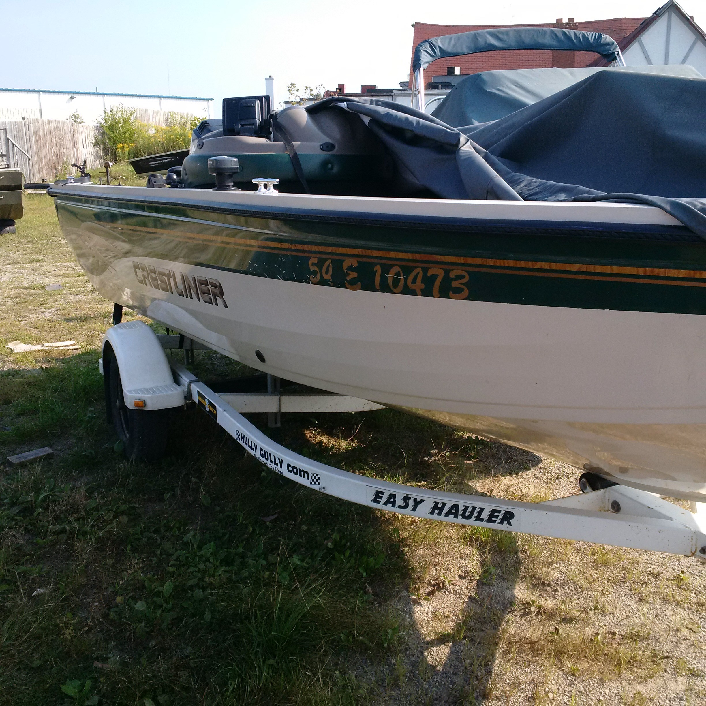 Crestliner 1750 fish hawk 2001 used boat for sale in for Crestliner fish hawk