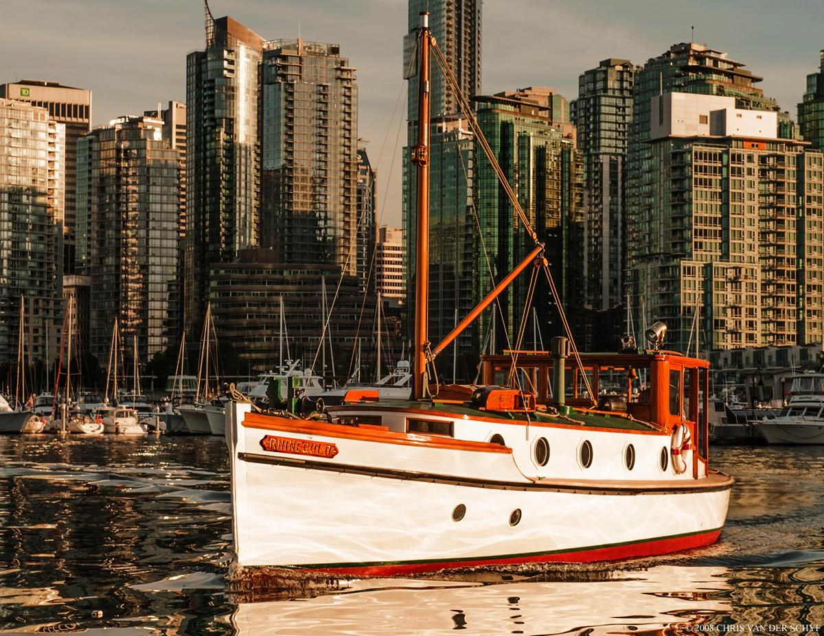 1911 Vancouver Shipyard Double Ended Boat for Sale   36 foot Motor