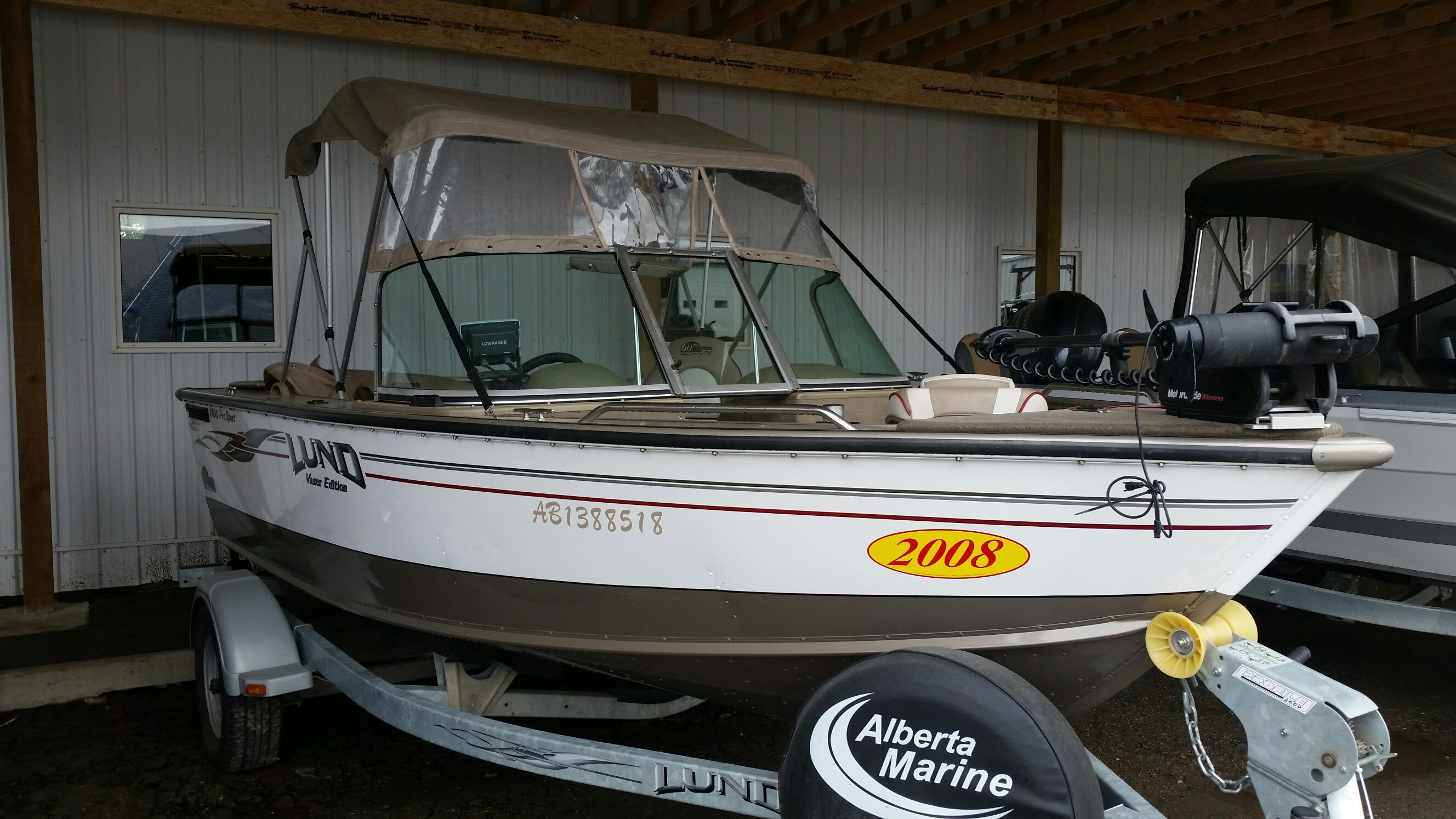 Lund 1700 pro sport vazer edition 2008 used boat for sale for Used lund fishing boats for sale