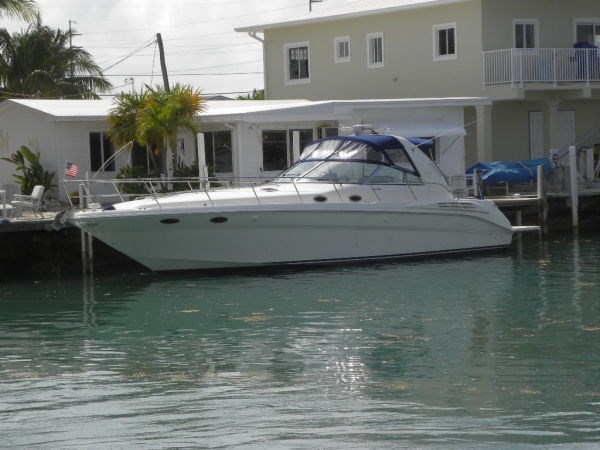 1999 sea ray 400 sundancer with hyd lift boat for sale for Boat lift motors for sale