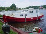 Custom Built Fiberglass Trawler Boat for Sale