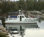 Steel Trawler Pleasure Tug Steel Twin Trawler Boat for Sale