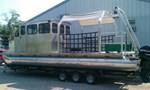 Custom Built 32.5' x 10' Aluminum Tri-Toon Work Boat /  2013