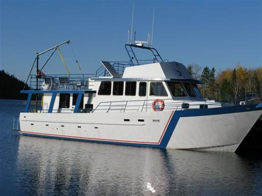 Steel overnight fishing charter boat steel overnight for Used fishing boats for sale in california