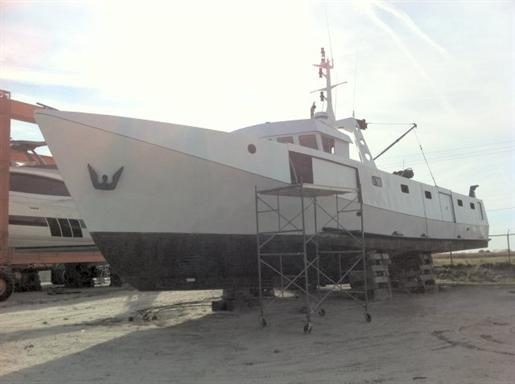 Great lakes commercial fishing vessel work boat great for Used commercial fishing boats for sale