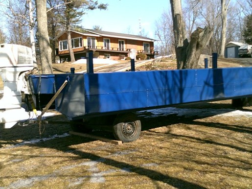 Custom built pontoon barge custom built pontoon barge 2017 for Pontoon boat without motor for sale