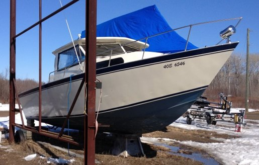 Custom built welded aluminum fishing boat 1989 used boat for Custom aluminum fishing boats