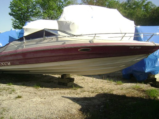 Maxum 23 sc 1990 used boat for sale in washago ontario for Used boat motors for sale in sc