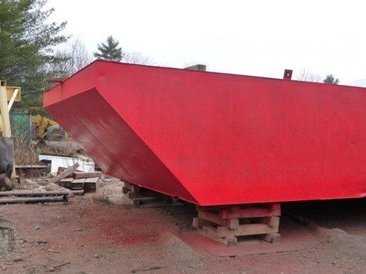 1990 60' x 16' x 6' Steel Deck Barge with Ramp Photo 3 of 15