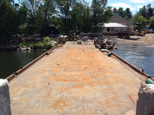 1990 60' x 16' x 6' Steel Deck Barge with Ramp Photo 11 of 15