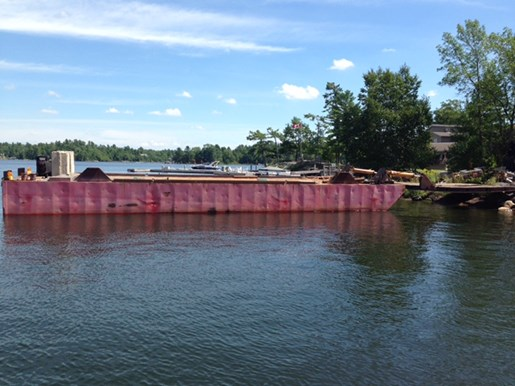 1990 60' x 16' x 6' Steel Deck Barge with Ramp Photo 13 of 15