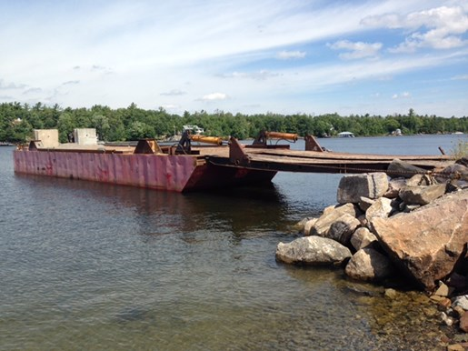 1990 60' x 16' x 6' Steel Deck Barge with Ramp Photo 1 of 15