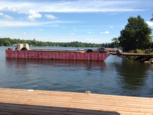 1990 60' x 16' x 6' Steel Deck Barge with Ramp Photo 14 of 15