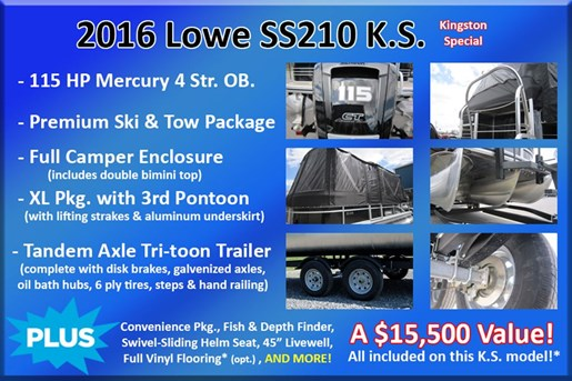 2017 Lowe Boats SS210 Mercury 115HP Trailer Full Enclosure Tri-... Photo 3 of 24