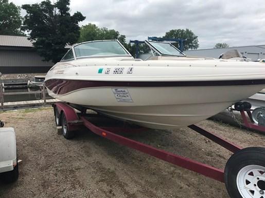 Rinker 212br 1997 used boat for sale in oshkosh wisconsin for Used outboard motors for sale wisconsin