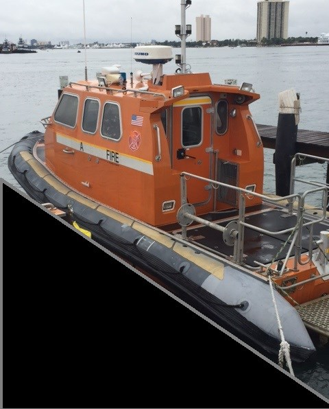 Uscg rigid inflatable near shore rescue boat 2002 used for Boat motor repair near me