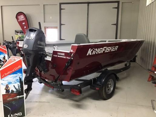 2017 KingFisher 1825 Warrior Tiller-Yamaha 70 hp-EZ Loader trailer Photo 3 of 10