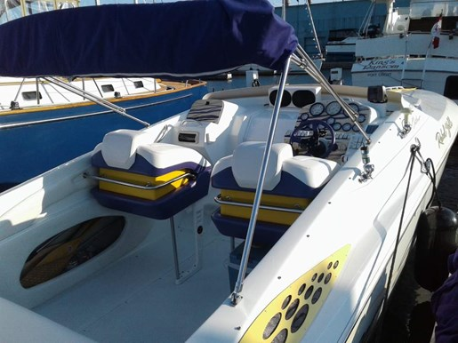 1998 Baja boat for sale, model of the boat is 36 Outlaw & Image # 4 of 10