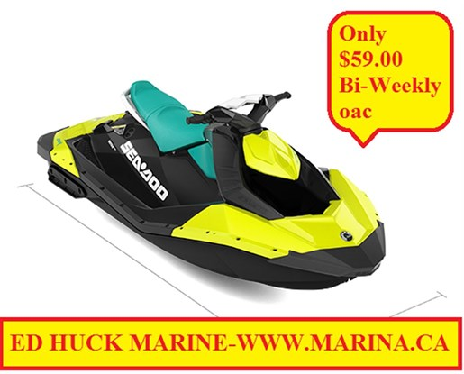 For Sale: 2018 Sea Doo Pwc Spark 2up 60hp 0ft<br/>Ed Huck Marine Limited