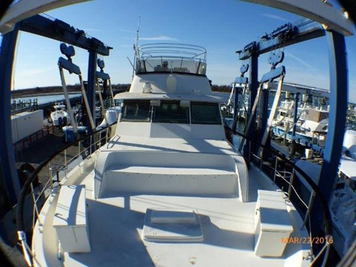 Hatteras 53 motor yacht 1979 used boat for sale in bay for Used outboard motors nj