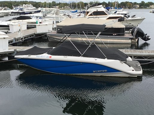 Scarab 195 ho 2014 used boat for sale in sturgeon bay for Used outboard motors for sale wisconsin