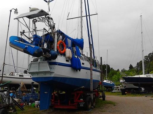 2003 Custom Bruce Roberts 370E deck salon Photo 8 sur 43