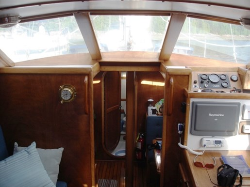2003 Custom Bruce Roberts 370E deck salon Photo 37 sur 43