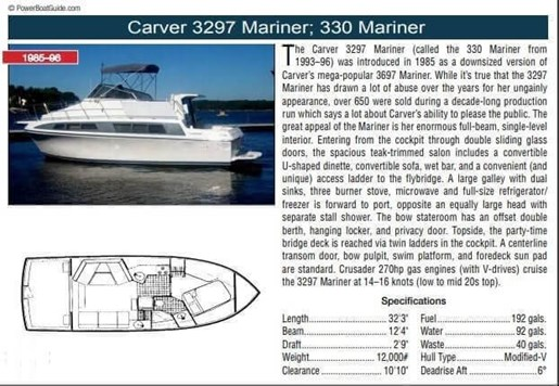 1988 Carver 3297 Mariner Photo 2 of 20