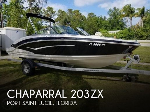 Chaparral 203ZX 2015 Used Boat for Sale in Port Saint Lucie, Florida -  BoatDealers ca