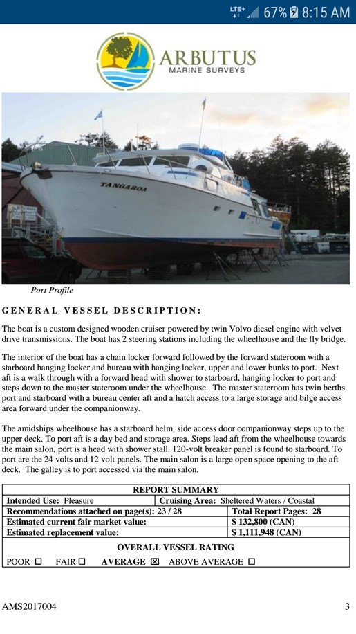 Fred Robinson Pilothouse cabin cruiser 1971 Used Boat for Sale in Victoria,  British Columbia - BoatDealers ca