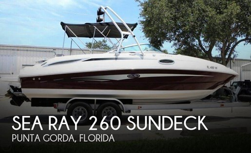 Sea Ray 260 Sundeck 2011 Used Boat for Sale in Punta Gorda, Florida -  BoatDealers ca