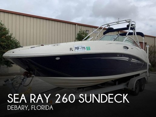 Sea Ray 260 SunDeck 2007 Used Boat for Sale in Debary, Florida -  BoatDealers ca