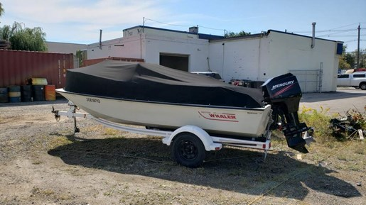 1991 Boston Whaler boat for sale, model of the boat is 17 Montauk & Image # 1 of 5