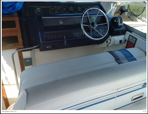 1990 Sea Ray boat for sale, model of the boat is 270 Sundancer MC & Image # 4 of 13