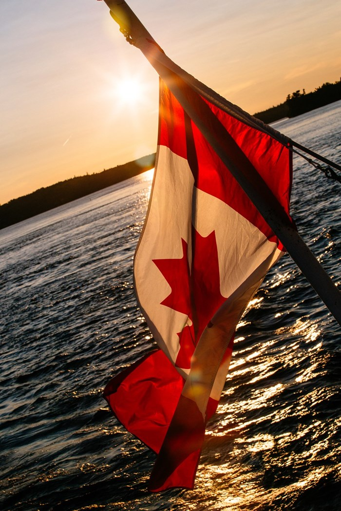 Best of Boating Ontario Canada Flag