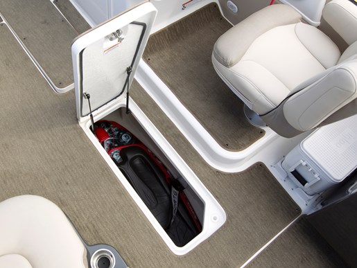 bayliner element xr7 floor storage