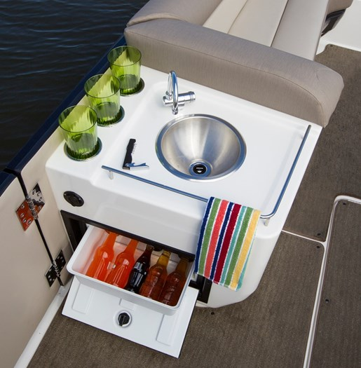 bayliner element xr7 fridge