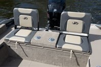 Princecraft Maska DLX WS Fishing Boat art flip seats