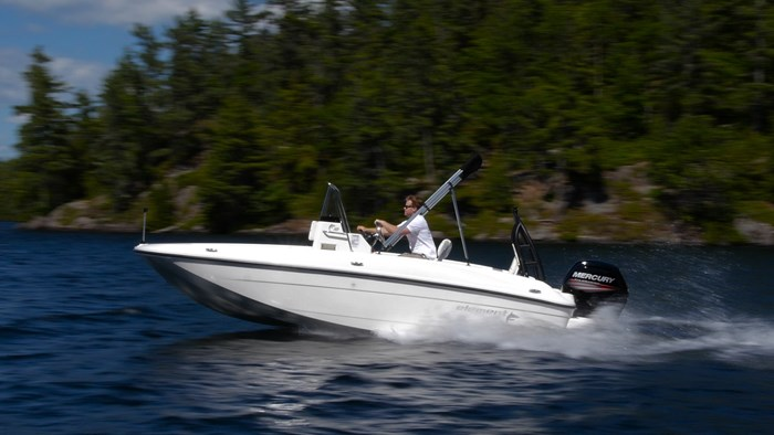 bayliner element f18 running