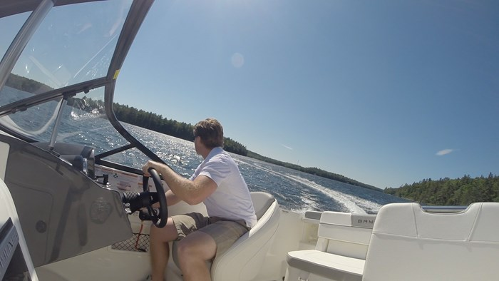 bayliner vr5 turning
