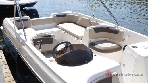 Bayliner Element E21 cockpit