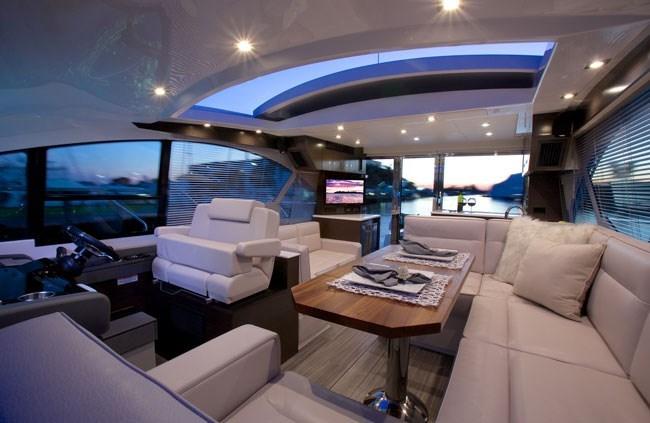 cruisers yachts 50 cantius upper salon